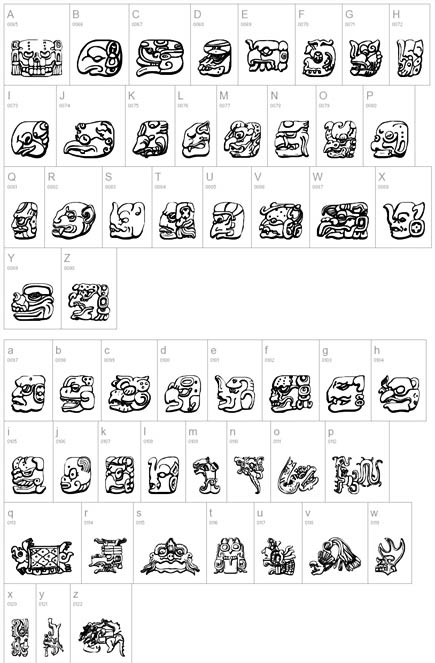 Letter Tattoo Design I Want To Get A Mayan Font Form Of My